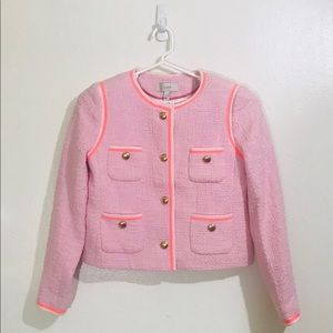 J.Crew Coral Tweed Jacket